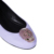 beautiful ladies purple leather elegant flat shoe