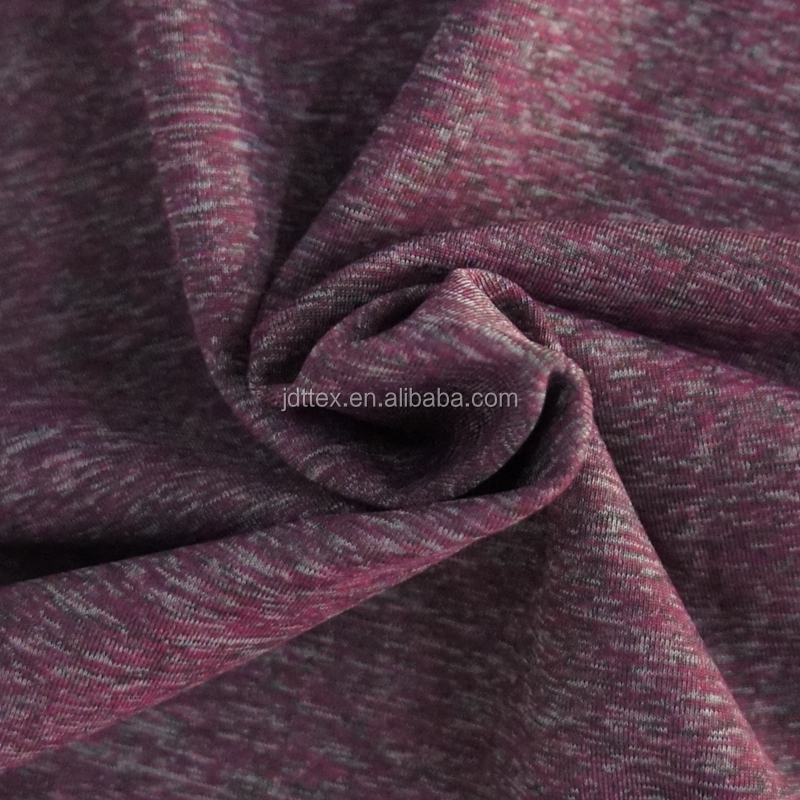 space dye moisture wicking polyester blend nylon active wear fabrics