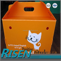Wholesale cheap price box waterproof coroplast plastic cat house