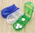 Plastic Pill Container box Medical Pill Splitter Tablet Cutter