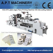 HSS-570 Label (logo) Flexo Printing Machine With Three Die-cutting Stations