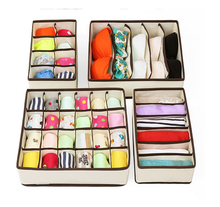 Factory wholesale decorative collapsible compartment storage box large clothes storage boxes drawers