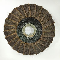 "Rigo 4 1/2"" x 7/8"" 115*22mm Coarse T29 Convex Non woven abrasive flap disc for derusting"
