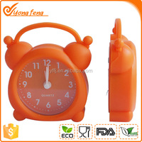 2016 new design cute shape silicone double bell alarm clock