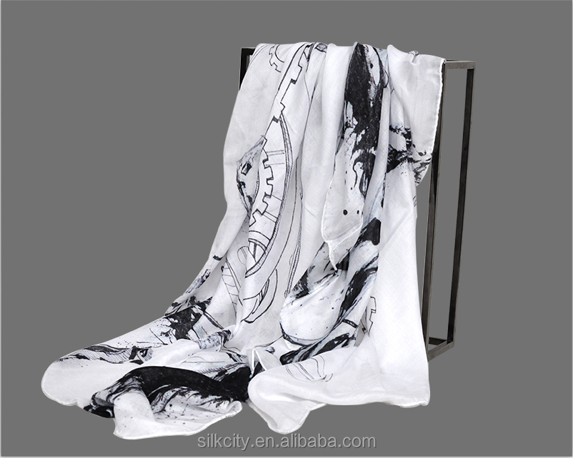 Customize New Design Modal Cahmere Scarf Supplier