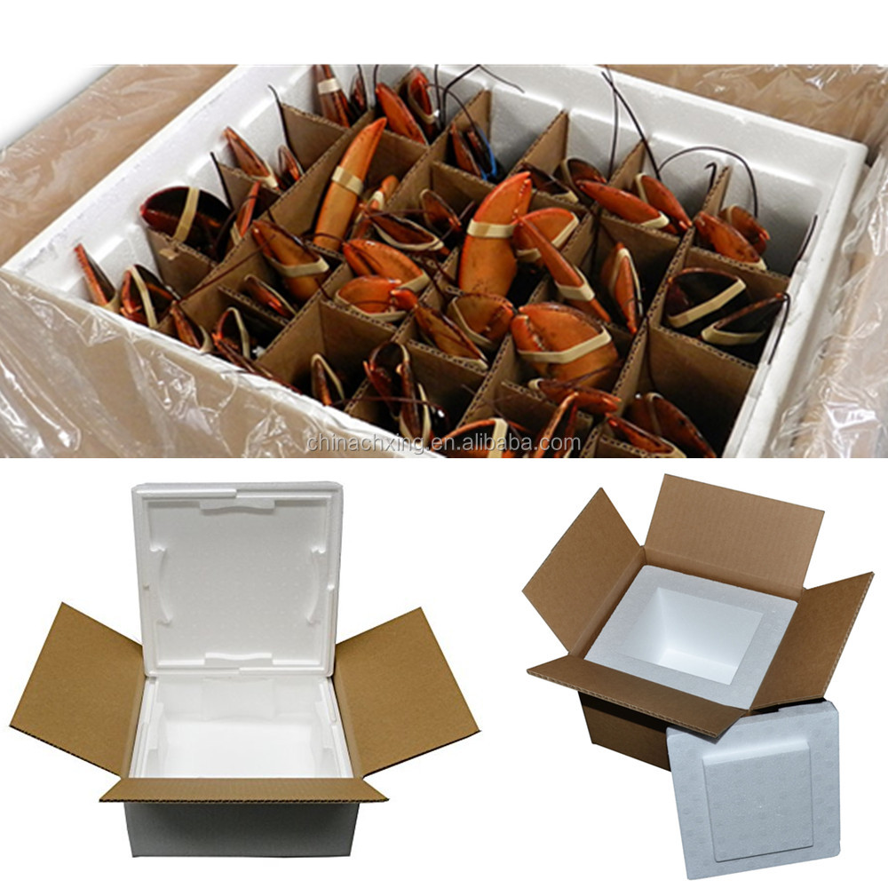 Different size Insulated EPS foam boxes for crab shipment
