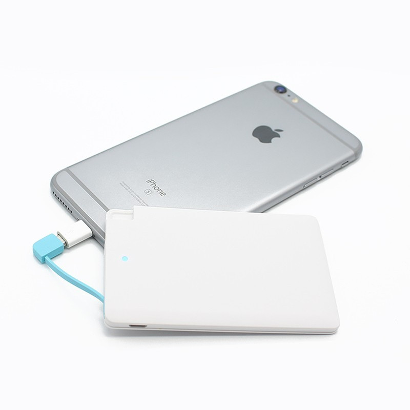 new arrival super slim Credit Card Power Bank 2500mAh Micro USB Cable Pocket Power for Mobile Ios Samsung and HTC