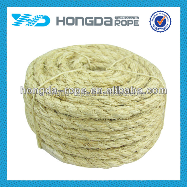 3 ply sisal twisted twine natural garden twine & sisal rope 6mm