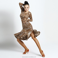 New Coming 2015 7051 Salsa dance dresses for woman sexy dance costume Ballroom Practice Performance Costume