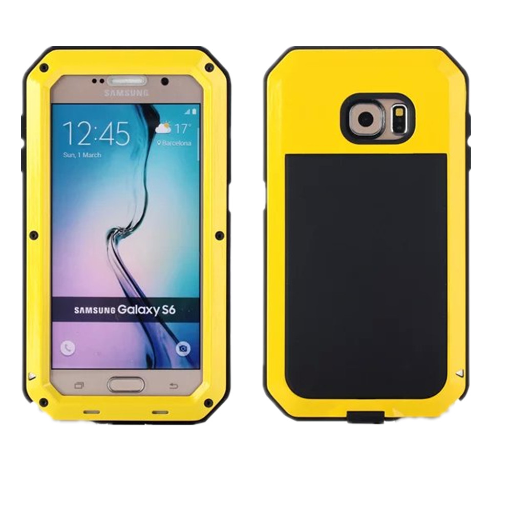 OEM manufacture Metal Aluminum Shockproof Gorilla Glass waterproof case for samsung galaxy s6, for samsung galaxy s6 waterproof
