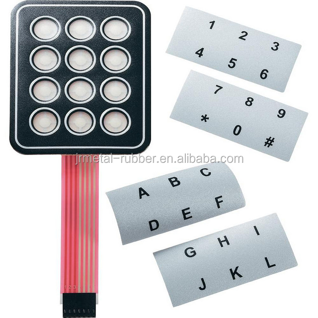 conductive PU coatings Back Lighting industrial instrumentation custom made silicone rubber push button