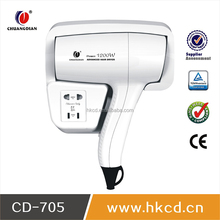 High speed hotel hair dryer 1200W wall mounted with shaver socket CD-705A