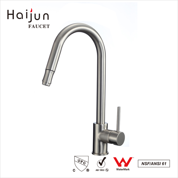Haijun Newest Design Commercial Deck Mounted Single Hole Kithchen Faucet