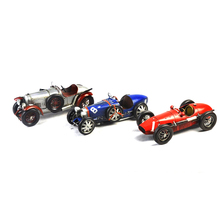 Wholesale Iron metal handicraft Vintage green Racing old classic Race Car model tin Vehicle Collectable Gift