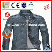 popular windproof and waterproof orange leather motorcycle jacket