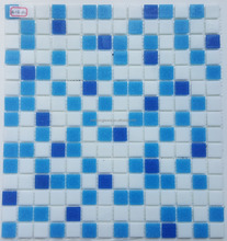 Blue color dot glass mosaic swimming pool tile bathroom floor tile design JVDD3012 cheap india prices