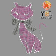 cute cat logo hotfix motif design