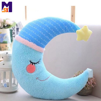 Hot selling 2018 custom design soft moon stuffed pillow plush moon toy