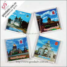 Eco-friendly photo insert blank acrylic fridge magnet from China