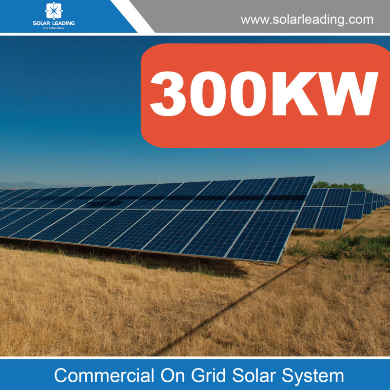 Large scale 300kw solar energy system solar power system include on grid solar panels also with pure sine wave inverter