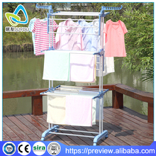 Three layer stainless steel laundry drying rack