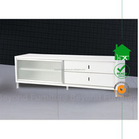TV-3027 Prima tv unit glossy white with drawer in living room