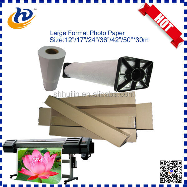 Large format 115gsm-260gsm high glossy waterproof inkjet photo paper