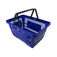 supermarket store plastic used shopping basket for sale