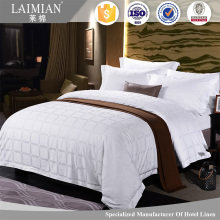LAIMAIN 100% cotton Jacquard bed sheet Dubai beautiful 5 star hotel bed linen set
