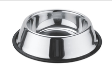 Durable Rubber bottom Stainless Steel Puppy Pet Dish Pet Feeder Dog Bowl