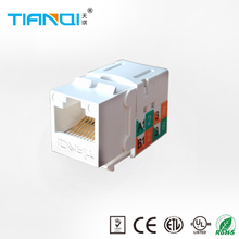 TianQi 90 degree clipsal RJ45 Cat5E/Cat6 unshielded type RJ45 keystone jack