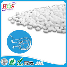 Soft-touch tpe, tpr material, granules, compound, pellets for earphones wire, cable, string, thread