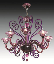 old style maria theresa purple murano glass pendant light