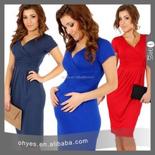 Cheap Pregnent Dress Ladies casual cotton dress with 8 colors big size