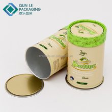 Unique Airtight Food Composite Paper Cans with Paper Cap for Superfoods