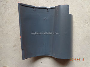 Matt grey Ceramic clay roof tile Spanish roof tile
