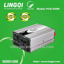 350W car inverter with USB charger dc to ac power inverter 350w with usb 12v 24v