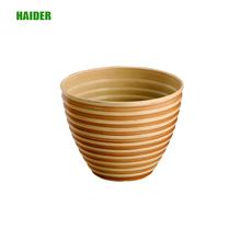 Shallow color plastic flowerpot with paint spraying technolgy
