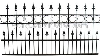 Metal Garden Fence With Golden Spear Top