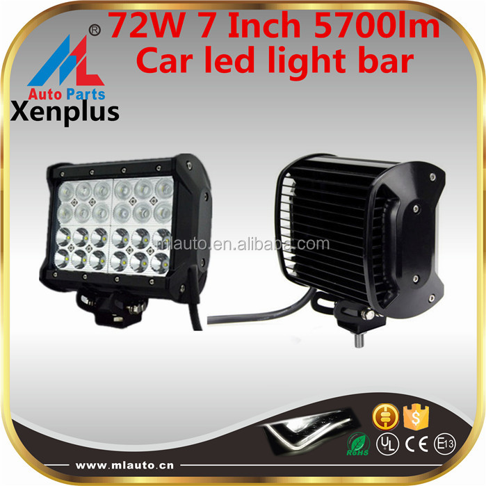 High quality flood and spot beam waterproof 72w car led cooler light bar 4x4 driving lights