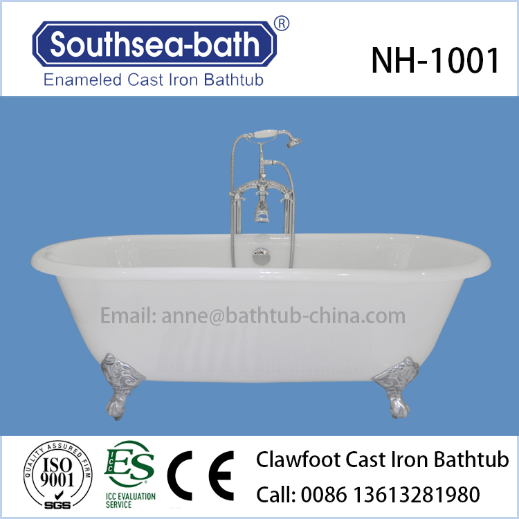cheap used clawfoot antique cast iron bath tubs in bathroom