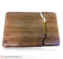 luxury design assembly carbonized bamboo material case for ipad mini