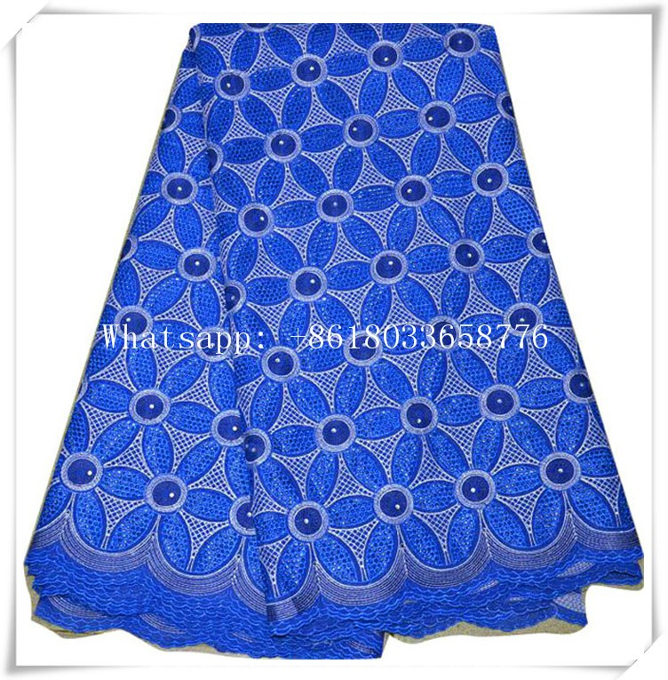 wholesale high quality red sequine lace fabric African Cotton Dry Lace embroidery lace fabric