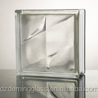 frost bistar glass brick patterned glass block with CE,ISO for palaza,office building and shopping mall