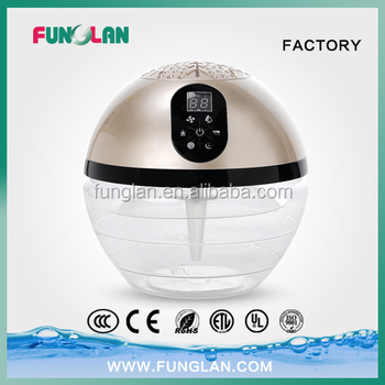 household office water air purifier led light globe wood freshener fragrance oil water based electric air purifier