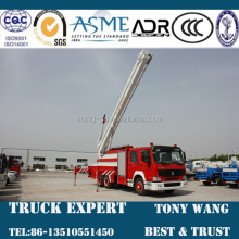 HOWO 30m Aerial Fire Truck, water, foam firefighting truck, 6x4 heavy fire truck for sale