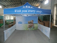 Outdoor folding tent with aluminum or iron stand for advertising