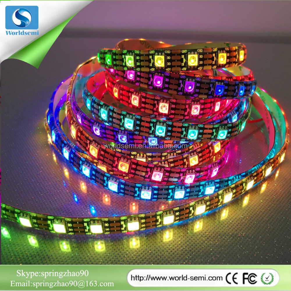 60 Pixel 60 led DC5V SMD5050 RGB led strip with ws2813 Chip