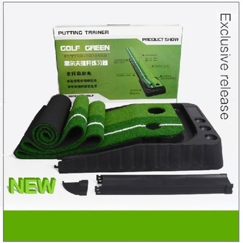 with ball return practice Putter indoor golf green Putting Mat