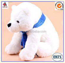 Pure white stuffed polar bears for baby gifts